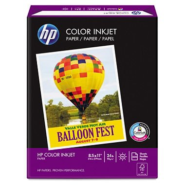 (HP Printer Paper, ColorPrinting24, 8.5 x 11, Letter, 24lb, 97 Bright, 500 Sheets / 1 Ream (202000R) Made In The USA)