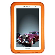 """Bobj Rugged Case for Samsung 7-inch Galaxy Tab 2 and Galaxy """"Tab Plus"""" Wi-Fi and 3G/4G Models (Not for Tab3) - BobjGear Protective Tablet Cover - Outrageous Orange"""