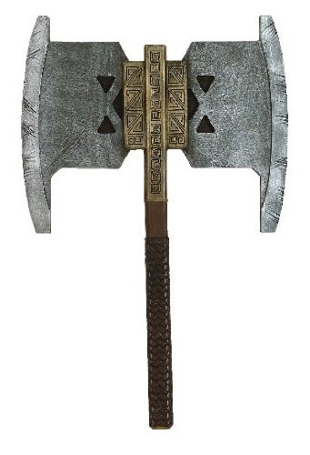 Costumes Lord Of The Rings (Rubie's Costume Men's Lord Of The Rings Gimli Accessory Axe, Multicolor, One Size)
