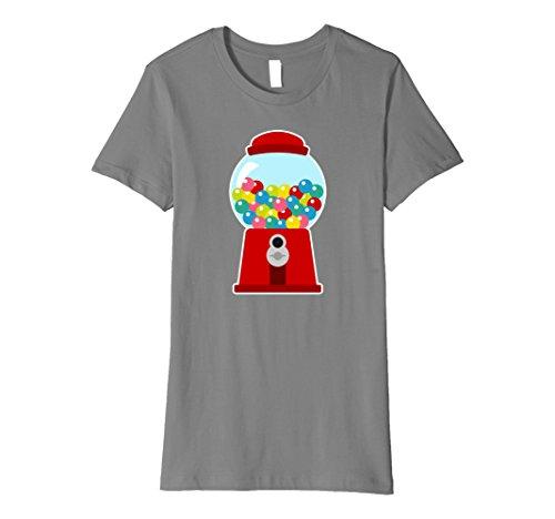 Gumball Machine Costume Child (Womens Premium Womens Gumball Machine Costume Bubblegum Kids Shirt Large Slate)