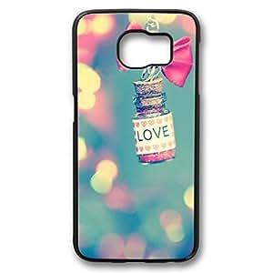 iCustomonline Girly Iphone Case for Samsung Galaxy S6 Edge PC Black