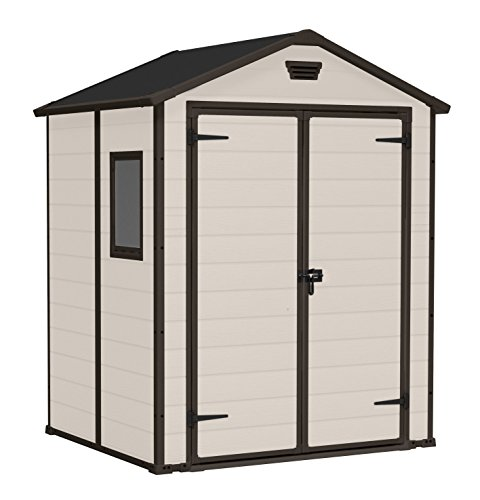 Superbe Keter Manor Outdoor Plastic Garden Storage Shed, 6 X 5 Feet   Beige:  Amazon.co.uk: Garden U0026 Outdoors