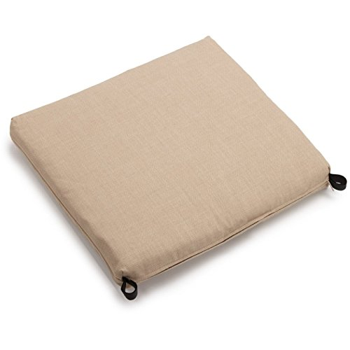 (Blazing Needles Solid Outdoor Spun Polyester Chair Cushion, 20