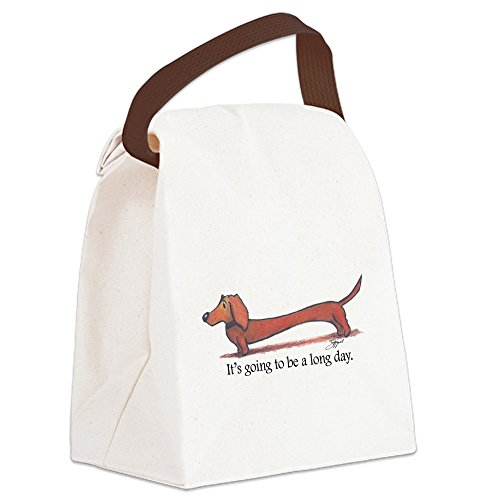 CafePress - Long Day Dachshund - Canvas Lunch Bag with Strap Handle from CafePress