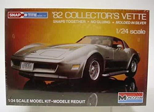 Monogram '82 Collector's Vette Chevrolet Corvette Vintage 1/24 Snap Tite Model Kit