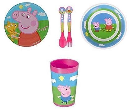 PEPPA PIG PLATO , bol, vaso y juego de cubiertos
