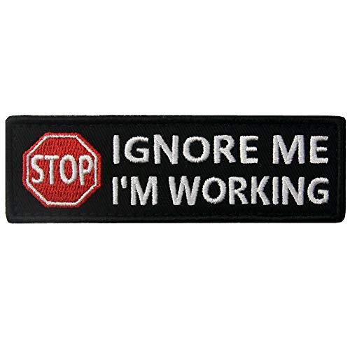Service Dog Ignore Me Im Working Warning Vests/Harnesses Patch Embroidered Badge Fastener Hook & Loop Emblem