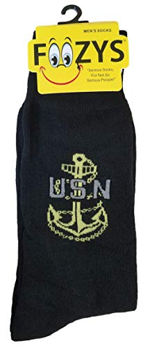 (Socks US Navy Master Senior Chief Petty Officer Anchor Dress Blues Khaki for Men)