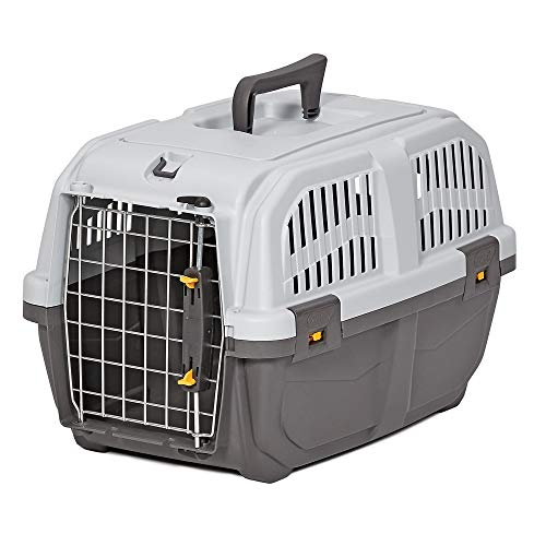 Midwest Skudo Plastic Travel Carrier for Dogs, 18.88″ L X 12.75″ W X 12.75″ H, XX-Small, Gray
