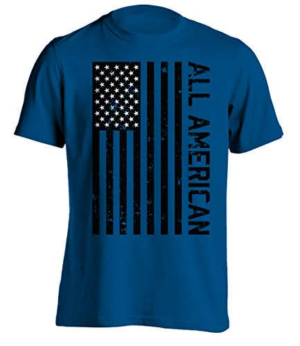 Bang Bang Apparel Men's 'All American' T-Shirt (Medium, Blue)