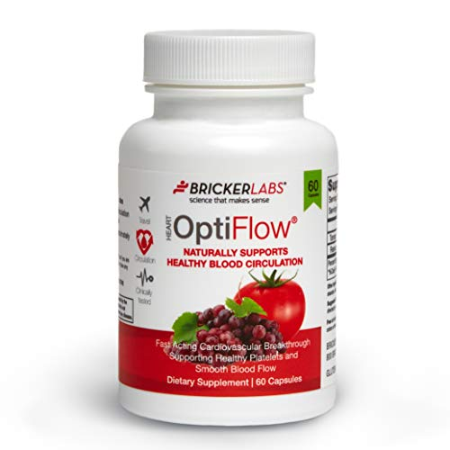 Optiflow with Fruitflow 60 Capsules – Derived from Tomatoes – Natural Ingredients Helping Optimal Cardiovascular Health – Healthy Blood Circulation by Keeping Platelets Smooth