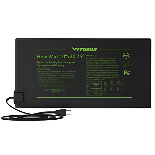 $12.99 VIVOSUN Durable Waterproof Seedling Heat Mat Warm Hydroponic Heating Pad 10″ x 20.75″ MET Standard 2019