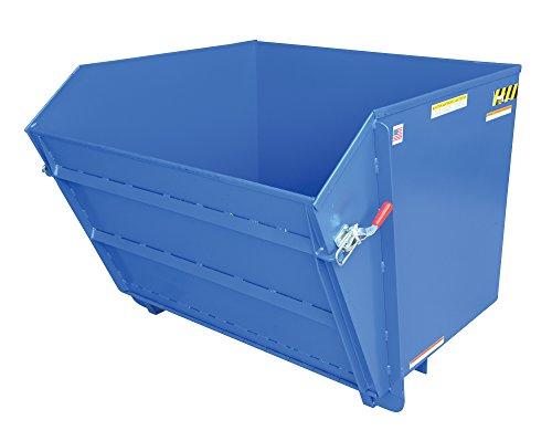 Vestil HDROP-150-LD Self-Dumping Hopper, 2000 lb Capacity, 1-1/2 Cubic Yard, Heavy Duty Steel, Blue