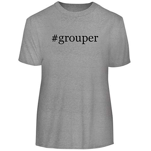 Grouper Fillet - One Legging it Around #Grouper - Hashtag Men's Funny Soft Adult Tee T-Shirt, Heather, X-Large