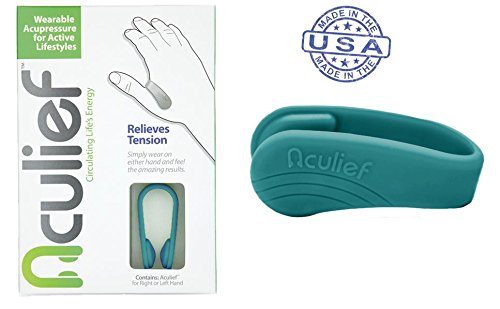 Aculief- Award Winning Natural Headache and Tension Relief - Wearable Acupressure 2 Pack (Teal) from Aculief