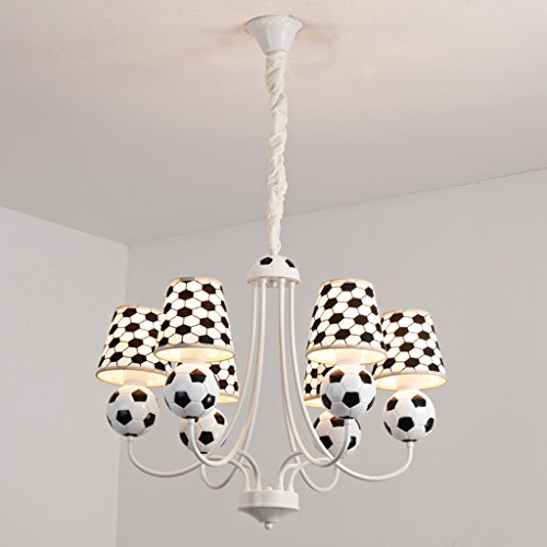 MILUCE Creative soccer LED chandelier personality boy bedroom children chandelier by MILUCE chandelier
