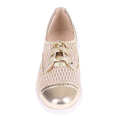 CATISA-bal4_wh764-Bailarinas para mujer Dorado - oro