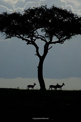 Gazelles and an Acacia Tree at Dawn in Africa Nature Journal: 150 Page Lined Notebook/Diary ebook