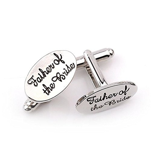 - MAOFA 2pcs Titanium steel jewelry Cufflinks with Father of the Bride,2.01.2 cm