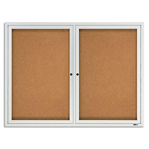 - Quartet Enclosed Cork Indoor Bulletin Board, 4 x 3 Feet, Aluminum Frame (2364)