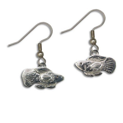 Pewter Fish Earrings by The Magic (Pewter Fish Earrings)