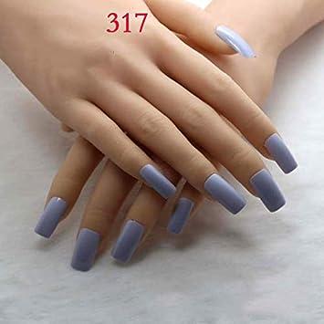 Amazon.com 20Pcs Fake Nails Light Blue Acrylic Nail Tips