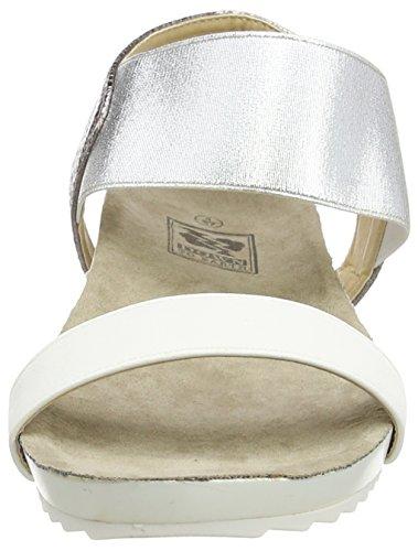 Spot OnElastic Strap Footbed - Sandalias con Cuña mujer Blanco - blanco
