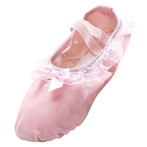 Panegy Zapatos de Ballet Baile Tutú Bailarinas Princesa con Encaje  Plantilla de Algodón Tranpirable para Niña EU 29 Rosa Ligero Rosa ligero  Venta Online ...