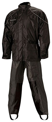 3 Piece Lined Rainsuit (Nelson Rigg AS-3000 Aston Rainsuit, (Black/Black,Large), 2 Piece, 2 Pack)