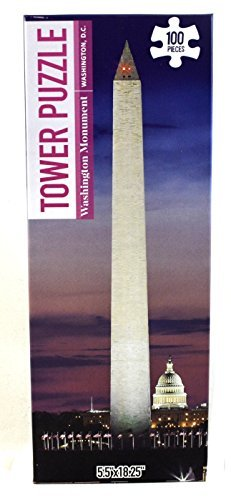 100 Piece Famous Towers Jigsaw Puzzle: The Washington Monument