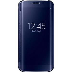 Samsung Clear View - Funda para Samsung Galaxy S6 Edge, color Azul