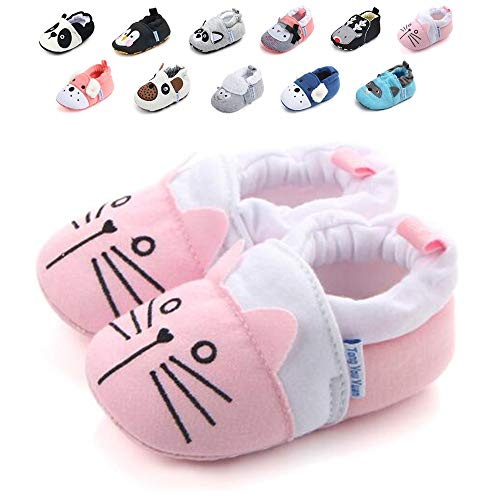 Sawimlgy Infant Baby Boys Girls Anti Slip Sole Walking Slippers Soft Socks Shoes House Moccasins First Crib Shoes Newborn Gift (Best Shoes For Crawlers)