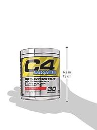 Cellucor, C4 Mass, Explosive Energy & Mass Builder, Pre-Workout Supplement, Fruit Punch, 30 Servings