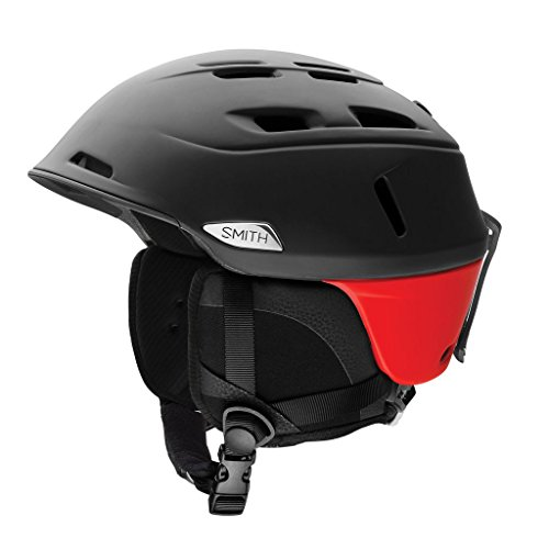 Smith Optics Camber Adult Ski Snowmobile Helmet - Matte Black Fire / Large by Smith Optics