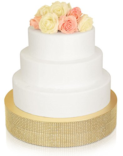 18' High Stand (Bling, Wedding Cake Stand / Drum (18 inch, Round , Soft Gold ))