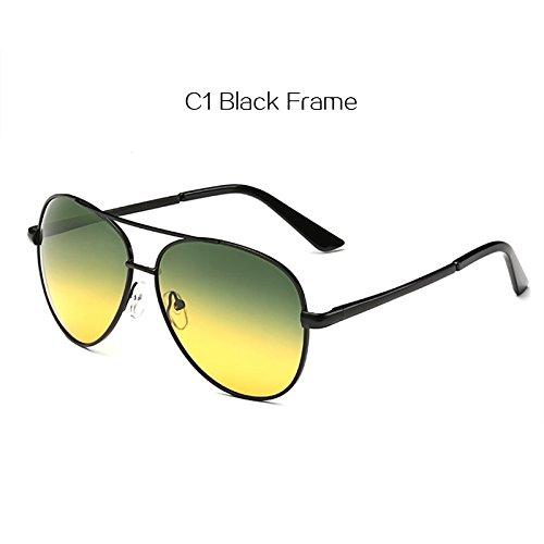 5f231533659 BuyWorld YOOSKE Classic Pilot Day Night Vision HD Sunglasses Men Women Goggles  Glasses UV400 Driver Night Driving Sun Glasses  Amazon.in  Clothing   ...