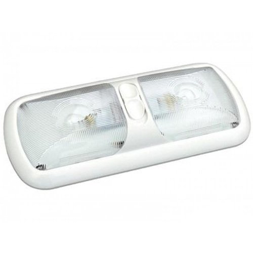 (Thin-Lite 312-1 Incandescent Halogen Dual Surface Mount Dome Light with Bright White Base)