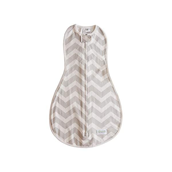 Woombie Original Baby Swaddling Blanket, Sleepy Grey Chevron, 14-19 lbs
