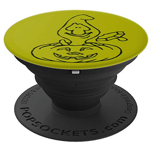 Crazy Pumpkin Halloween gift present - PopSockets Grip and Stand for Phones and Tablets for $<!--$14.99-->