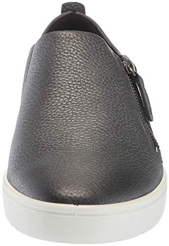 dark Mujer Para Ecco Zapatillas plateado Cordones Sin black Negro Fara Silver IwIXazq
