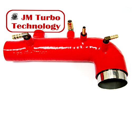 JM Compatible For 02-03-04 Subaru Wrx Sti Ej20 Ej25 Turbo Intake Inlet Silicone Hose Red Color