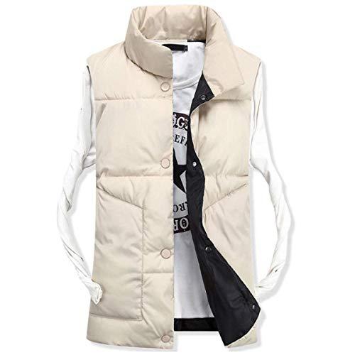 Vest Winter Coat Comfortable Coat Beige Cotton Autumn Men's Cotton Jacket and Warm Outerwear Down Casual Down Battercake f0qXw