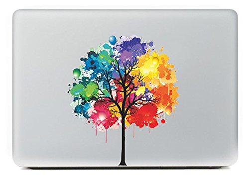 "NetsPower® New Fashion Colorful Pattern Vinyl Decal Sticker Power-up Art Black for Apple MacBook Pro/Air 13"" 15"" Inch - Graffiti Tree"