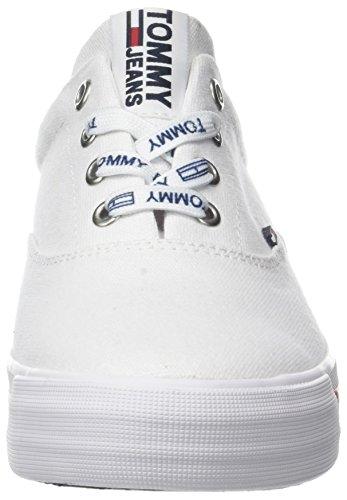 Hilfiger Denim Damen Tommy Jeans Sneaker Weiß (White 100)