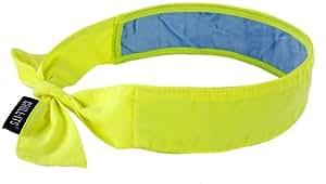 Ergodyne Chill-Its 6700CT Evaporative Cooling Bandana - Tie Closure, Lime
