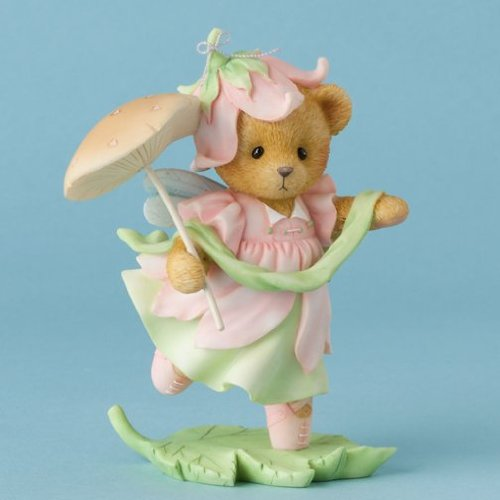 Cherished Teddies Hush and Hear the Whisper of Fairies Bear Mushroom Figurine - Figurine Bear Cherished Teddies