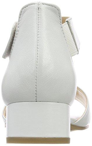 Caprice Caviglia Perlato 28212 139 Donna Bianco Alla Sandali Con Cinturino white CpBCxrH