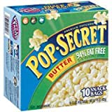 microwave fat free popcorn - Pop Secret Butter 94% Fat Free Premium Popcorn, 10ct