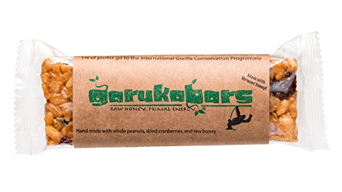 Garuka Bars Energy Bar - Handmade with Raw Honey - 100% Recyclable Packaging - 4 Pack