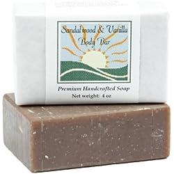 Sandalwood Vanilla Soap by MoonDance Soaps - Handmade Soap with Vanilla Bean and Shea Butter